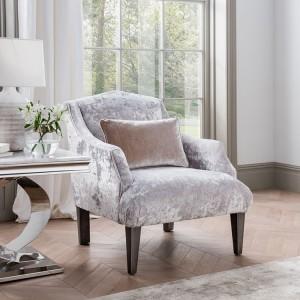 Vida Living Belvedere Accent Chair With Bolster Champagne Velvet