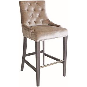 Vida Living Belvedere Knockerback Bar Chair Champagne Velvet