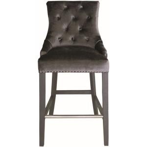 Vida Living Belvedere Knockerback Bar Chair Charcoal Velvet