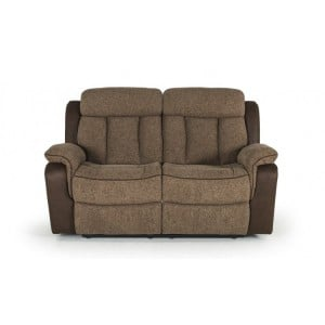 Vida Living Brampton Brown 2 Seater Recliner Sofa