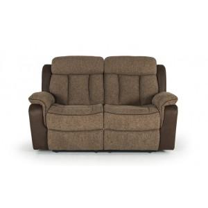 Vida Living Brampton Brown 2 Seater Recliner Sofa