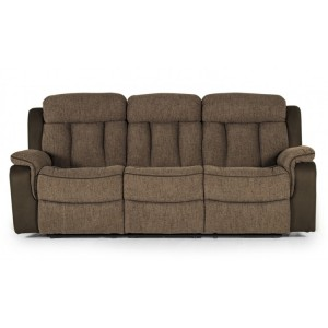 Vida Living Brampton Brown 3 Seater Recliner Sofa