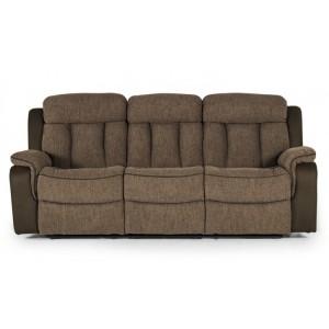 Vida Living Brampton Brown 3 Seater Recliner Sofa