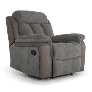 Vida Living Brampton Grey 1 Seater Recliner Armchair