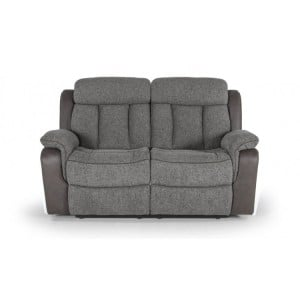 Vida Living Brampton Grey 2 Seater Recliner Sofa