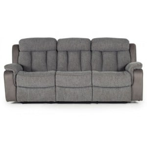 Vida Living Brampton Grey 3 Seater Recliner Sofa