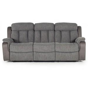 Vida Living Brampton Grey 3 Seater Recliner Sofa
