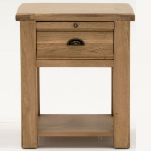 Vida Living Breeze Oak Furniture 1 Drawer Nightstand