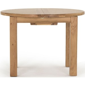 Vida Living Breeze Oak Furniture 107-140cm Round Extending Table