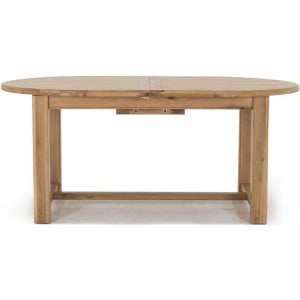 Vida Living Breeze Oak Furniture 180-220cm Oval Extending Table