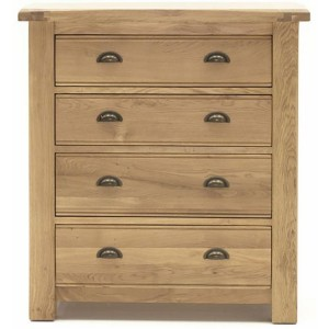 Vida Living Breeze Oak Furniture 4 Drawer Chest