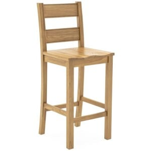 Vida Living Breeze Oak Furniture Ladder Back Bar Chair