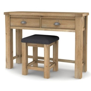 Vida Living Breeze Oak Furniture Dressing Table & Stool Set
