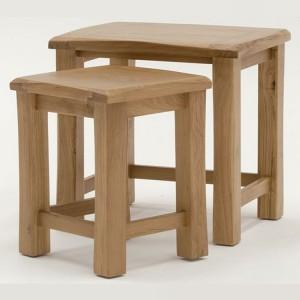 Vida Living Breeze Oak Furniture Nest of Tables