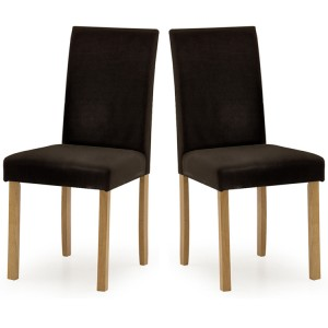 Vida Living Anna Dining Chair Brown PU Leather Pair