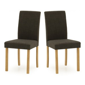 Vida Living Anna Dining Chair Charcoal Pair
