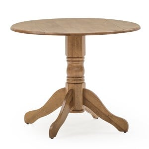 Vida Living Brecon Round Dropleaf Table Honey