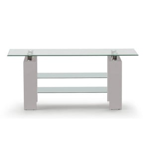 Vida Living Calico High Gloss & Glass Grey TV Stand