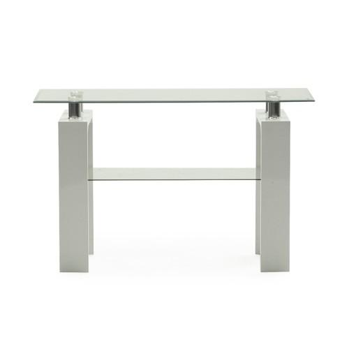 Vida Living Calico High Gloss & Glass White Console Table