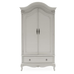 Vida Living Camille Grey Double Wardrobe With Drawer