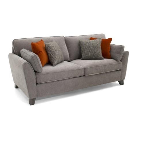 Vida Living Cantrell Silver 3 Seater Sofa