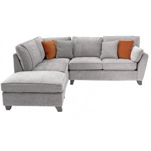 Vida Living Cantrell Silver Left Facing Corner Sofa Group