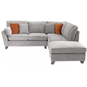 Vida Living Cantrell Silver Right Facing Corner Sofa Group