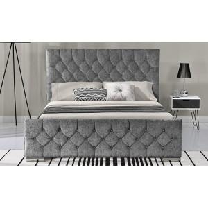 Vida Living Carina Chenille 6ft Super Kingsize Fabric Bed