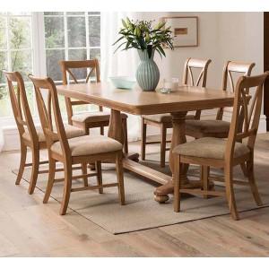 Vida Living Carmen Oak Furniture 180-230cm Extending Dining Table