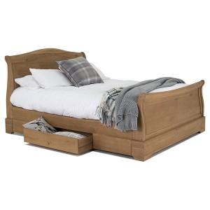 Vida Living Carmen Oak Furniture 6ft Super Kingsize Bed