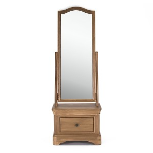 Vida Living Carmen Oak Furniture Cheval Mirror