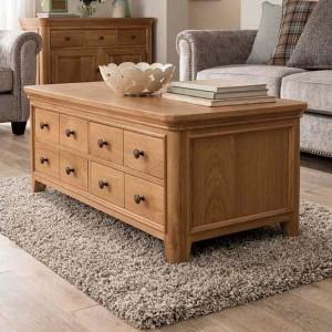 Vida Living Carmen Oak Furniture Coffee Table