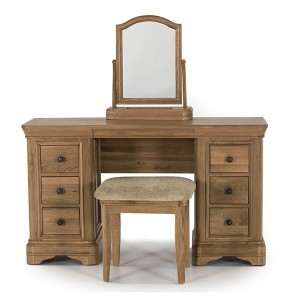 Vida Living Carmen Oak Furniture Dressing Table/Desk