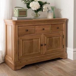 Vida Living Carmen Oak Furniture Small Sideboard