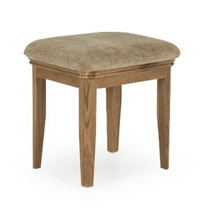 Vida Living Carmen Oak Furniture Stool