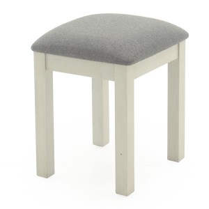 Vida Living Croft Vintage Ivory Stool Version 2