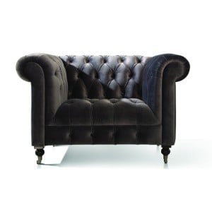 Vida Living Darby 1 Seater Armchair In Grey Velvet