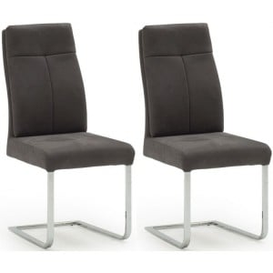 Vida Living Donatella Furniture Grey Fabric Dining Chair Pair