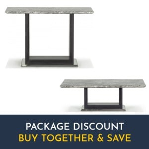 Vida Living Donatella Furniture Grey Marble Coffee & Console Table Set