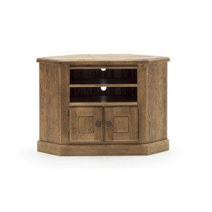 Vida Living Edmonton Oak Furniture Corner TV Unit