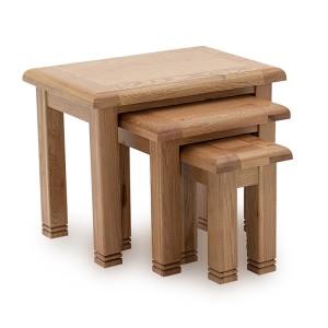 Vida Living Edmonton Oak Furniture Nest of 3 Tables