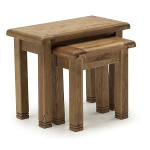Vida Living Edmonton Oak Furniture Nest of Tables