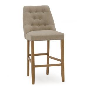 Vida Living Eldridge Bar Chair Beige Linen