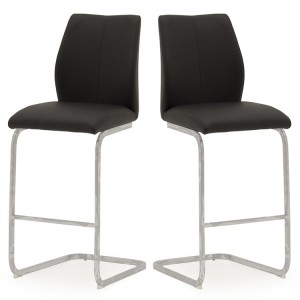 Vida Living Elis Bar Chair Black Pair