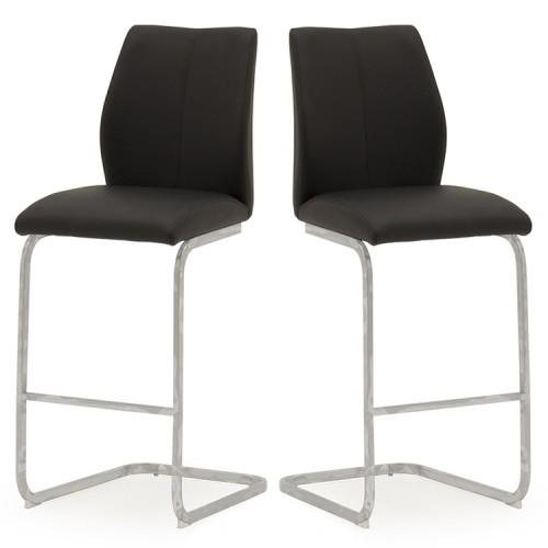 Vida Living Elis Bar Chair Black Pair