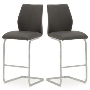 Vida Living Elis Bar Chair Grey Pair