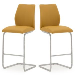 Vida Living Elis Bar Chair Pumpkin Pair
