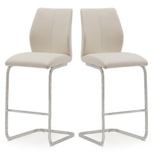 Vida Living Elis Bar Chair Taupe Pair