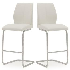 Vida Living Elis Bar Chair White Pair