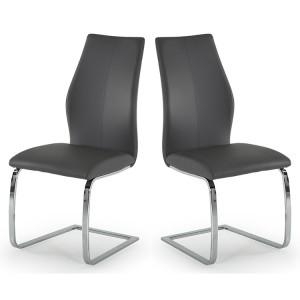 Vida Living Elis Dining Chair Grey Pair